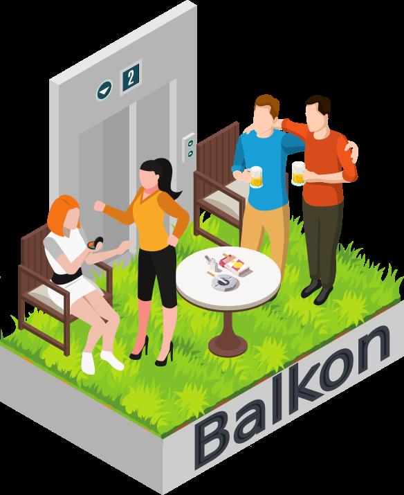 Bild von Balkon: Speedmeeting mit Icebreaker